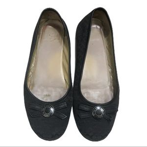 Coach Black Logo Collins Flats